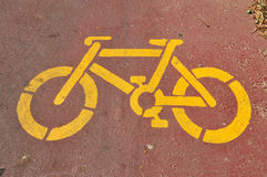 Bicycle stencil Royalty Free Stock Photos