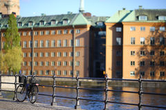 Bicycle at Stockholm old city Stock Image