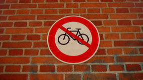 Bicycle stop sign Stock Image
