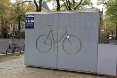 Bicycle Storage. Place to store bicycles, The Hague, Netherlands Stock Photography