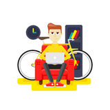Bicycle storage in the apartment Royalty Free Stock Photos