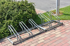 Bicycle storage at the parking lot Stock Images