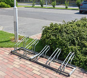 Bicycle storage at the parking lot Stock Photography