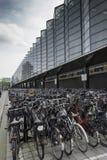 Bicycle storage at rotterdam station Royalty Free Stock Photos