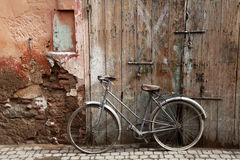 The bicycle on the street Stock Photography