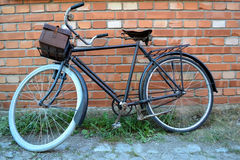 Bicycle on the street. The bike in the village Skansen, Sweden Stock Image