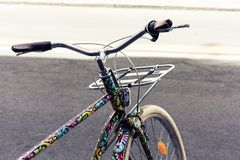 Bicycle on the street of Catania, Sicily, Italy.  royalty free stock image