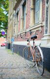 Bicycle on a street Royalty Free Stock Photography