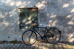 Bicycle on the street of Fussen, town in Bavaria Royalty Free Stock Photos