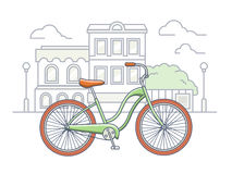 Bicycle on the street illustration Stock Image