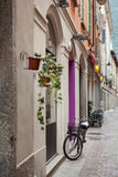 Bicycle on street of italian city Stock Image