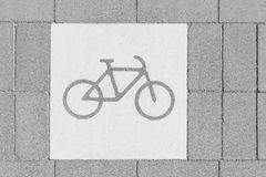 Bicycle Street Lane Sign Stock Photography