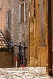 Bicycle on a street of an old town in the Southern Europe Royalty Free Stock Photography