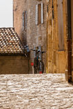Bicycle on a street of an old town in the Southern Europe Royalty Free Stock Image