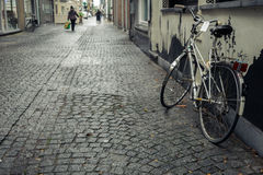 Bicycle on the street, Ostend, Belgium Royalty Free Stock Photography