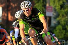 Bicycle street race event Royalty Free Stock Photo