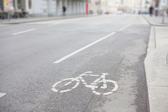 Bicycle street track Royalty Free Stock Images