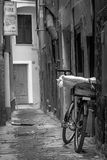Bicycle. In a street in Vernazza, Italy Stock Photography
