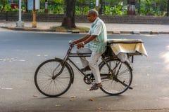 A bicycle on streets of Mumbai stock photos