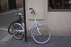 Bicycle on the streets of Paris Royalty Free Stock Image