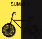 Bicycle summer convex elements yellow Stock Photos