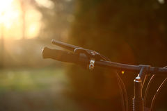 Bicycle at Sunset Royalty Free Stock Images