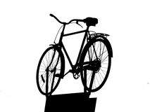 Bicycle on support silhouette Stock Photo