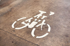 Bicycle symbol. Stock Images