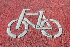 Bicycle symbol Royalty Free Stock Images