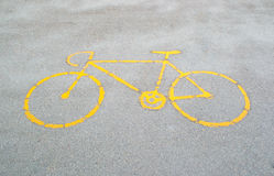 Bicycle symbol. Bicycle bike city cycle cyclist Royalty Free Stock Photography