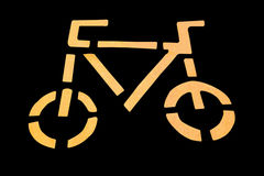 Bicycle symbol Stock Image