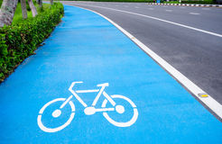 Bicycle symbol lane Royalty Free Stock Photos
