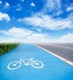 Bicycle symbol lane. Stock Photography
