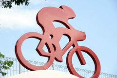 Bicycle Symbol Sign. Bicycle cyclist symbol, logo or Icon Royalty Free Stock Image