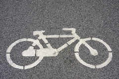 Bicycle symbol signaling Stock Photos