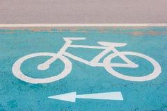 Bicycle symbol on street Stock Photo
