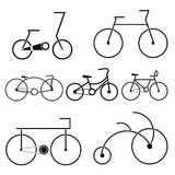 Bicycle symbol vector Royalty Free Stock Images