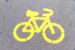Bicycle symbol Royalty Free Stock Photo