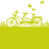 Bicycle and tandem. Bicycle, tandem and fun while bicycling Stock Photography