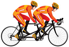 Bicycle tandem racer derby Stock Photos