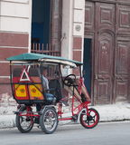 Bicycle Taxi On Havana Street Stock Images