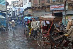 Bicycle taxi in Mathura Royalty Free Stock Photo