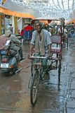 Bicycle taxi in Mathura Stock Photo