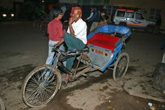 Bicycle taxi in Old Delhi Royalty Free Stock Photography