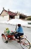 Bicycle taxi in penang malaysia Stock Photos