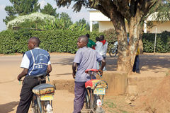 Bicycle taxi in Rwanda Stock Photo