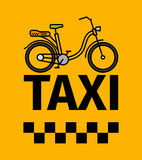 Bicycle taxi transport poster Stock Photo