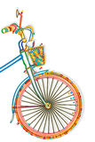 Bicycle Template. Bicycle funcky style template with copy space Stock Images