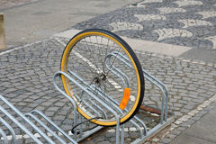 Bicycle theft royalty free stock image