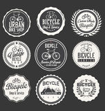 Bicycle Themed Label Design Set Stock Image